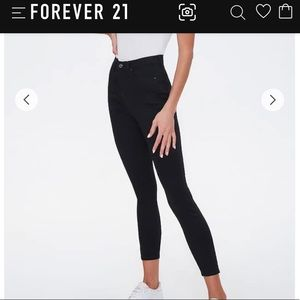 Forever 21 The Sunset Jeans Size 28 Black